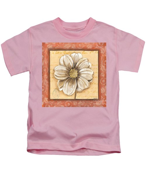 Orange Bohemian Dahlia 1 Kids T-Shirt