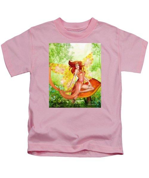 Orange Fairy Kids T-Shirt