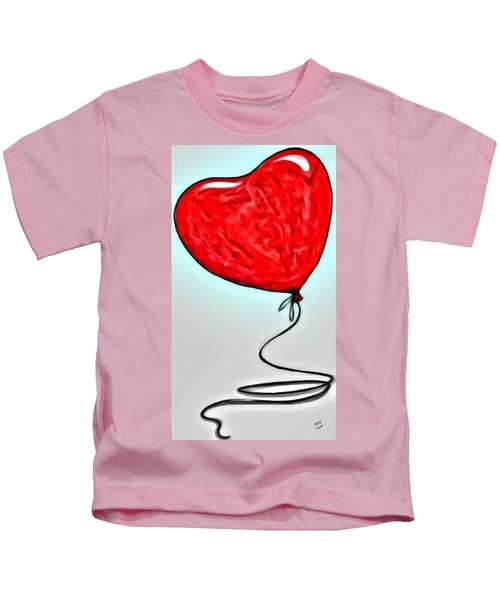 Kids T-Shirt featuring the painting Painted Heart by Marian Palucci-Lonzetta
