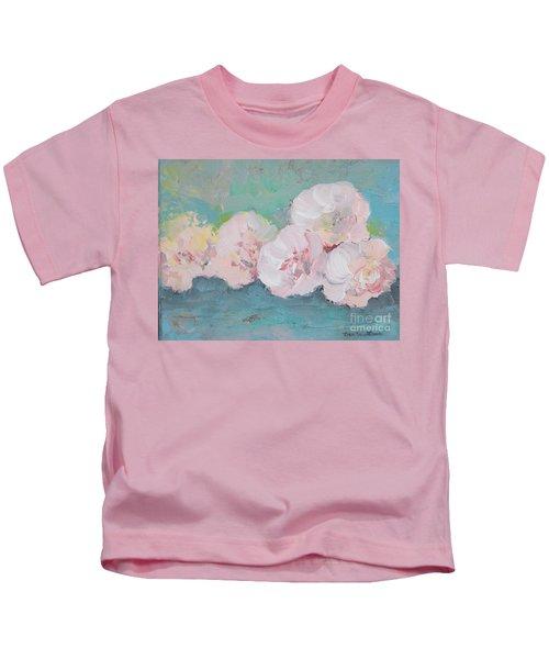 Pale Pink Peonies Kids T-Shirt