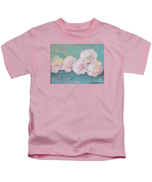 Pale Pink Peonies Kids T-Shirt