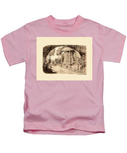 Pan Looking Upon Ruins Kids T-Shirt