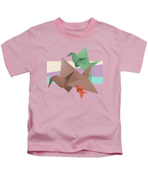 Paper Cranes Kids T-Shirt by Absentis Designs