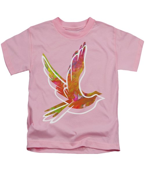 Part Of Peace Dove Kids T-Shirt by Priscilla Wolfe