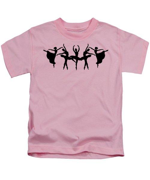 Passionate Dance Ballerina Silhouettes Kids T-Shirt