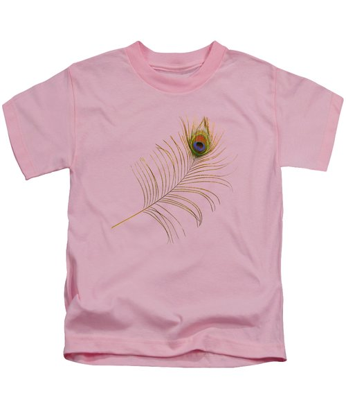 Peacock Feather Kids T-Shirt