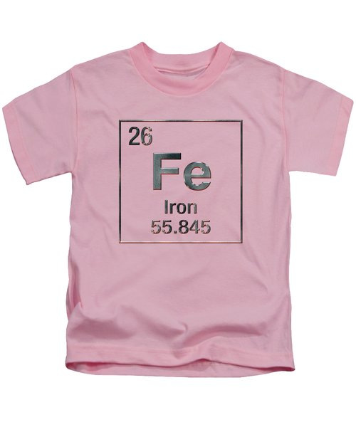 Periodic Table Of Elements - Iron Fe Kids T-Shirt