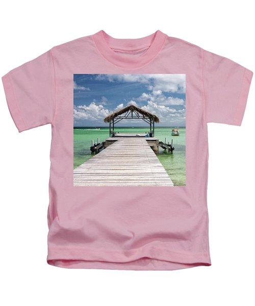 Pigeon Point, Tobago#pigeonpoint Kids T-Shirt