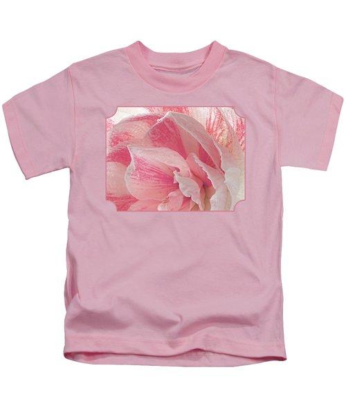 Pink Amaryllis Abstract Kids T-Shirt