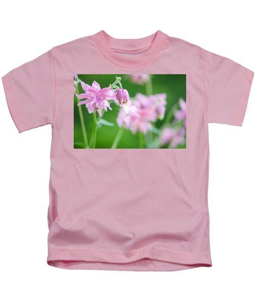 Pink Columbine Kids T-Shirt