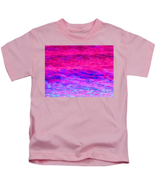 Pink Fantasy Waters Abstract Kids T-Shirt