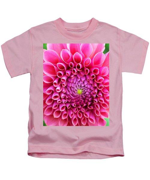 Pink Flower Close Up Kids T-Shirt