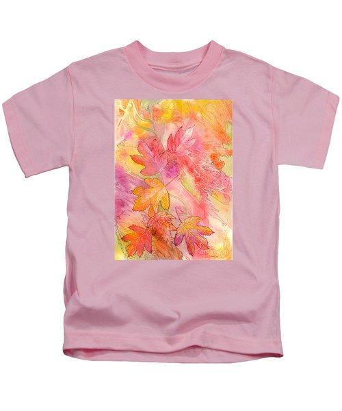 Pink Leaves Kids T-Shirt