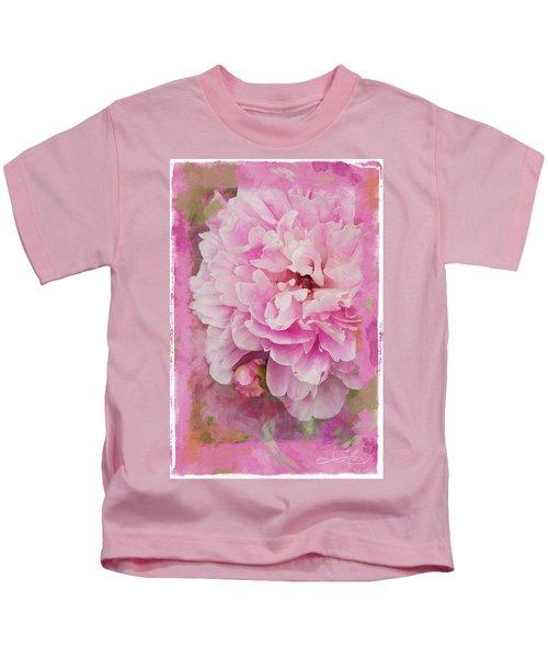 Pink Peony 2 Kids T-Shirt