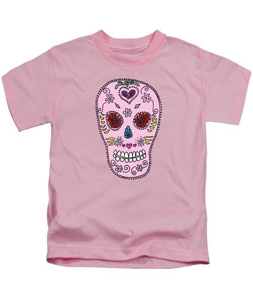 Pink Sugar Skull Kids T-Shirt