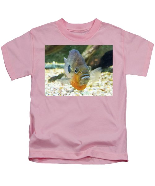 Piranha Behind Glass Kids T-Shirt