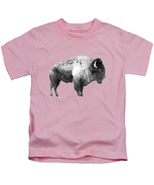 Plains Bison Kids T-Shirt by Jim Sauchyn