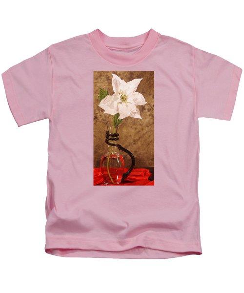 Poinsettia In Pitcher  Kids T-Shirt