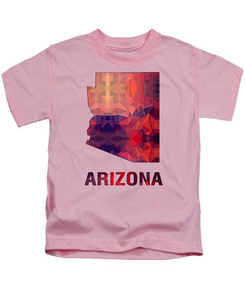 Polygon Mosaic Parchment Map Arizona Kids T-Shirt