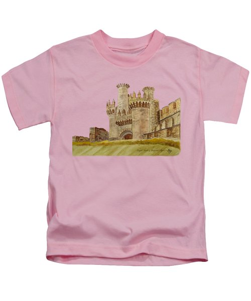 Ponferrada Templar Castle  Kids T-Shirt by Angeles M Pomata