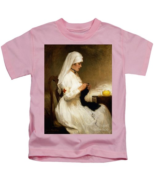 Portrait Of A Nurse From The Red Cross Kids T-Shirt