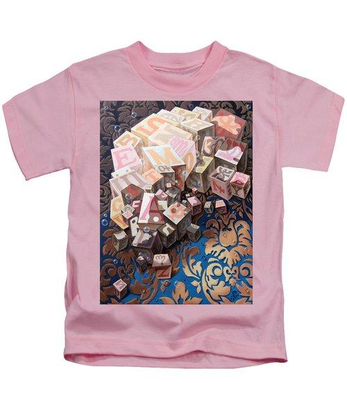 Portrait Of Einstein. Cubes  Kids T-Shirt