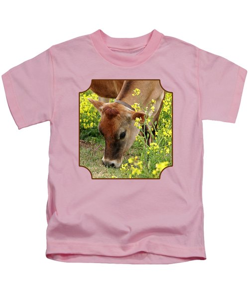 Pretty Jersey Cow - Vertical Kids T-Shirt