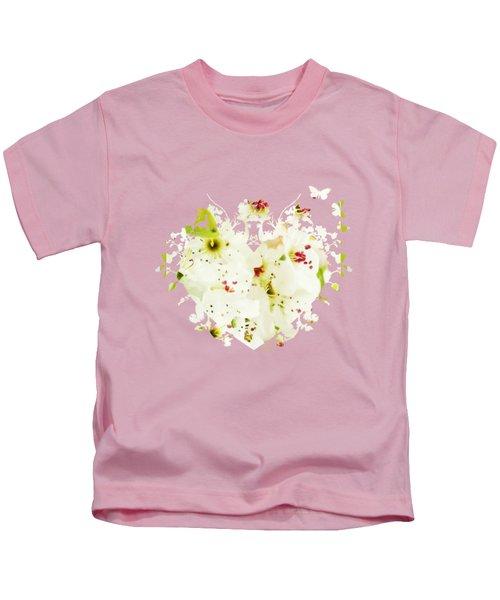 Pretty Pear Petals Kids T-Shirt by Anita Faye