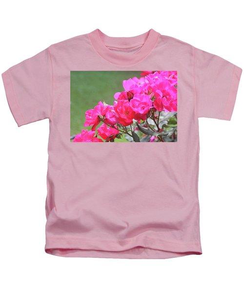 Pretty Pink Roses Kids T-Shirt