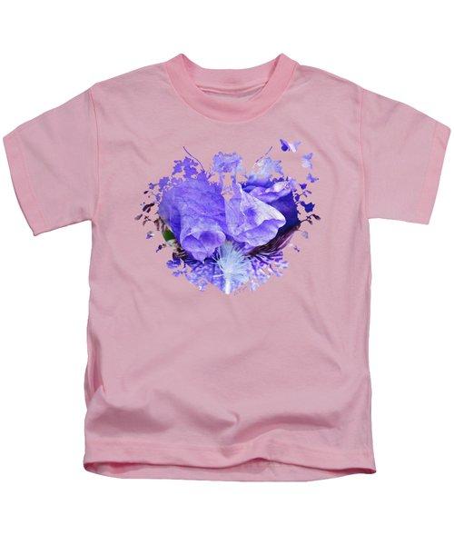 Pretty Purple Kids T-Shirt by Anita Faye
