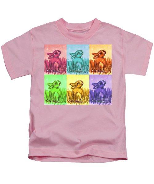 Primary Bunnies Kids T-Shirt