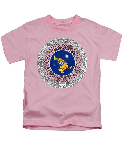Psalm 37 Flat Earth Kids T-Shirt