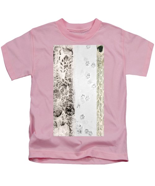 Puppy Prints In The Snow Kids T-Shirt