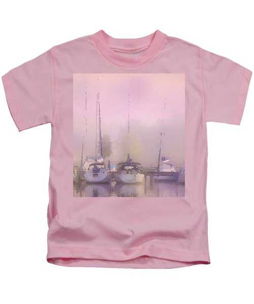 Purple Marina Morning Kids T-Shirt