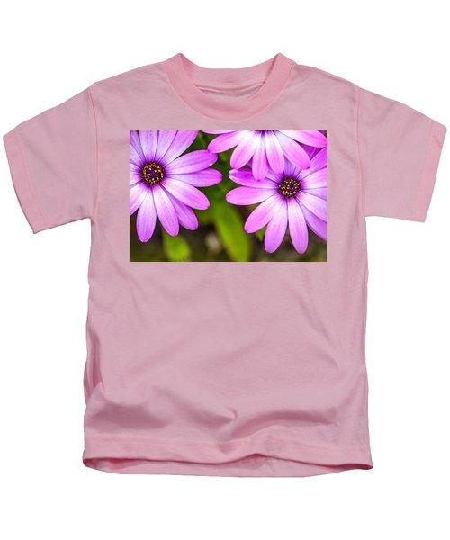 Purple Petals Kids T-Shirt