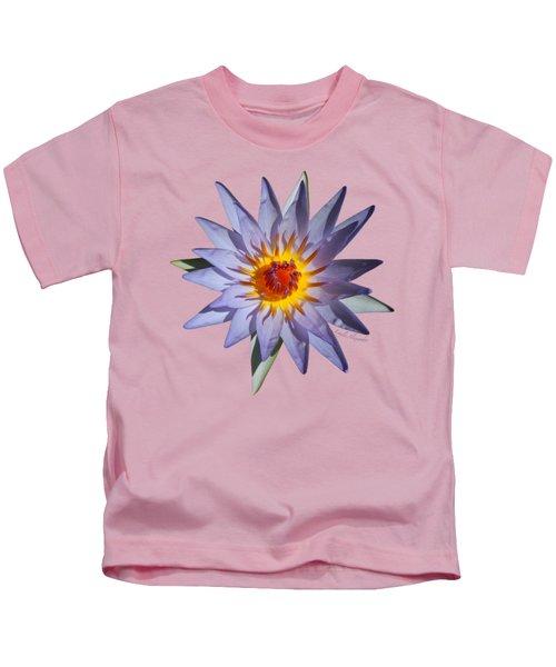 Purple Water Lily Transparent Kids T-Shirt