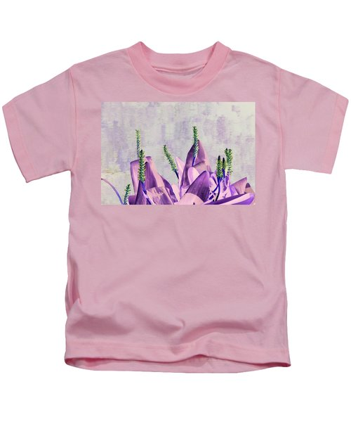 Purple Water Plant Kids T-Shirt