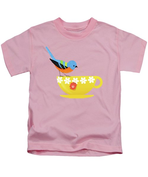 Put The Kettle On Kids T-Shirt by Little Bunny Sunshine