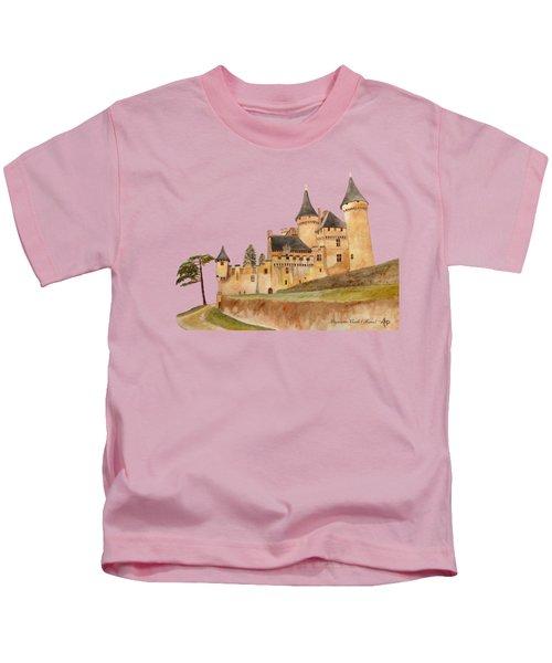Puymartin Castle Kids T-Shirt by Angeles M Pomata