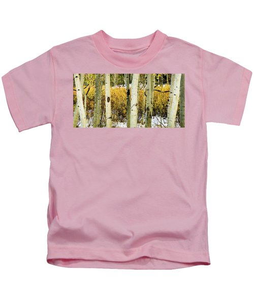 Quakies And Willows In Autumn Kids T-Shirt