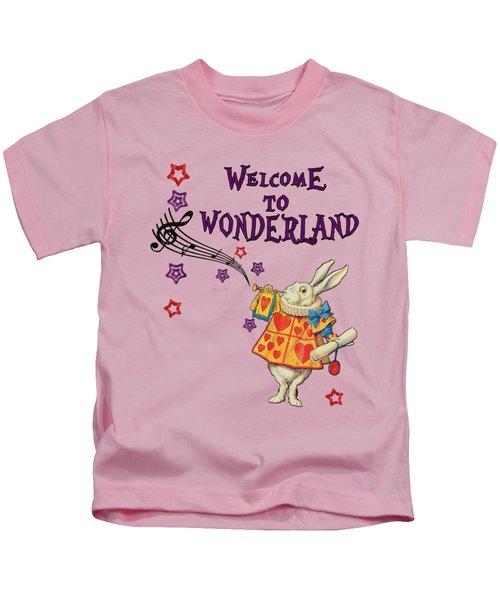 Rabbit Welcome To .. Alice In Wonderland Kids T-Shirt