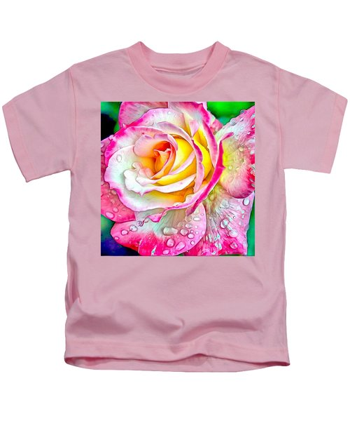Radiant Rose Of Peace Kids T-Shirt