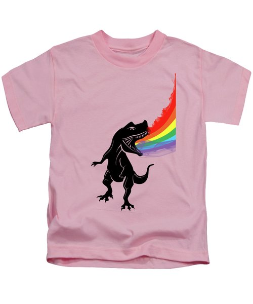 Rainbow Dinosaur Kids T-Shirt