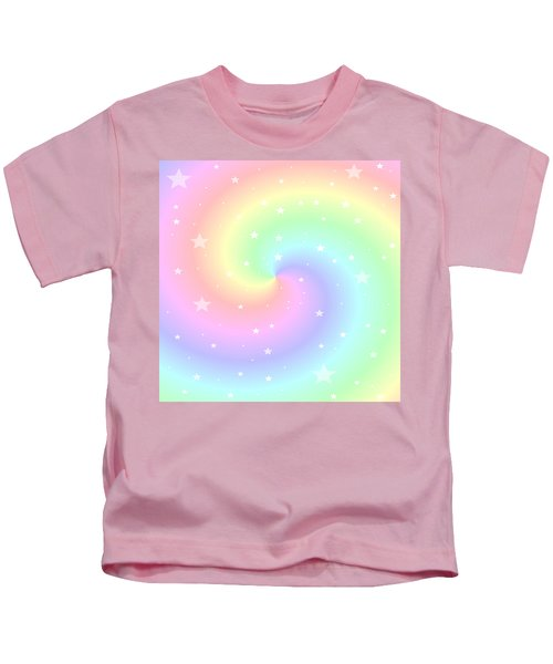 Rainbow Swirl With Stars Kids T-Shirt