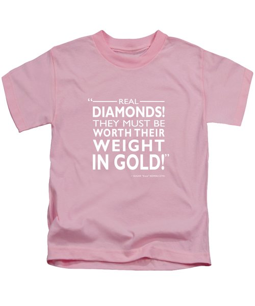 Real Diamonds Kids T-Shirt by Mark Rogan