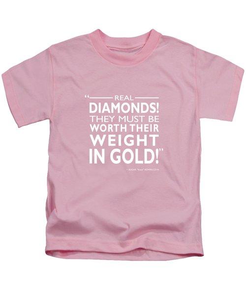Real Diamonds Kids T-Shirt by Mark Rogan