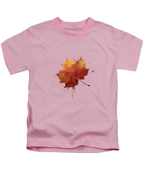 Red Autumn Leaf Kids T-Shirt