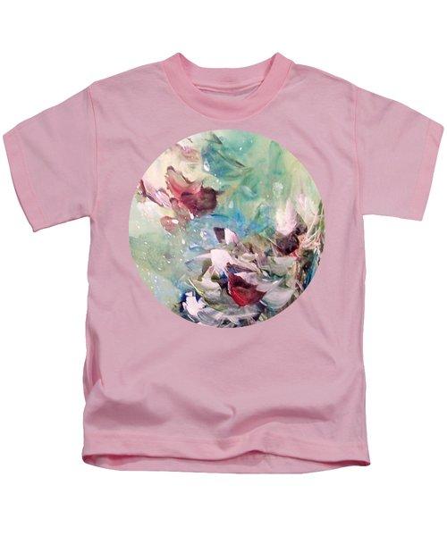 Red Birds In Winter Kids T-Shirt