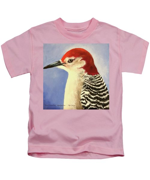 Red Breasted Woodpecker Two Kids T-Shirt