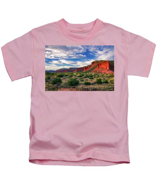 Red Cliffs Of Caprock Canyon Kids T-Shirt